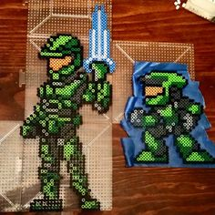 Master Chief  Halo perler beads by dazer24