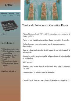 Terrine de Poisson aux crevettes Roses