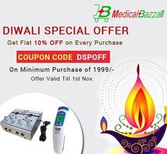 Get Ready for Special #Diwali #Offer Order Now & Get Flat 10% #OFF - https://medicalbazzar.com/