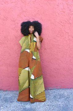 Africa Fashion, Tribal Fashion, African Attire, African Dress, African Fashion Ankara, Designer Jumpsuits, Ankara Dress, Traditional Fashion, African Design