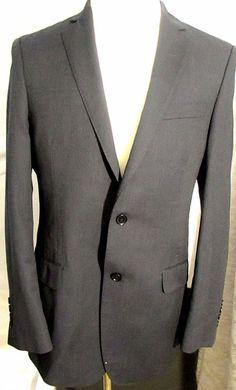 Mens DKNY Blue Wool Blazer 40R Jacket Sport Coat Two-Button Dual Vent #DKNY #TwoButton