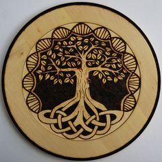 Tree of life plate by CelticWoodandArt on Etsy, £30.00