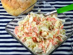 This is the recipe I turn to most when I make coleslaw.  The recipe comes from stephskitchen.com.