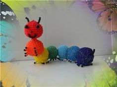 Rainbow gusenichka. | Biser.info - all about beads and beaded work