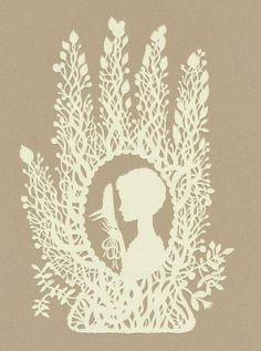 Elsa Mora - Bird Mask Papercut