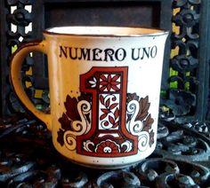 Vintage 70's Numero Uno Mug Japan number one coffee tea gift