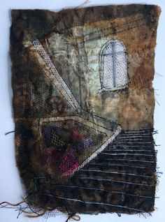 Gothic Decay creates unique pieces of textile art based on urban decay Textiles, Art Base, Textile Art, Urban Decay, Fiber Art, Machine Embroidery, Abandoned, Art Pieces, Artist