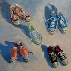 """""""Five and a Half Stars"""" by #HenryStinson Oil on Canvas 40""""x40"""""""