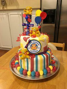 Build A Bear cake, fondant bear cake, easy