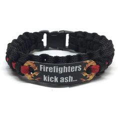 Buckles & Hooks Home & Garden Active 550 Paracord Survival Bracelet Thin Red Line Support Firefighters Firemen Hero Handmade Bracelet Wrishband Wrish Band