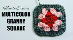 How to Crochet Multicolor Granny Square https://youtu.be/e4qI6UZjOnI