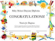 Preschool graduation certificate template pinterest kindergarten diploma certificate free certificate templates in academic award certificates category yadclub Gallery