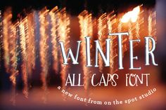 Check out Winter - A Quirky All Caps Font by OnTheSpotStudio on Creative Market
