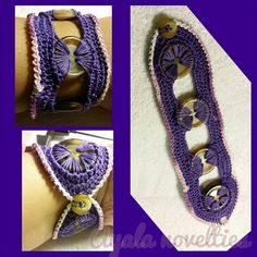 How To - Make An Awesome Crochet Button Bracelet