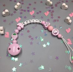 ANY NAME//WORD BABY GIRL PINK PERSONLISED HANDMADE UNICORN DUMMY CLIP PACIFIER