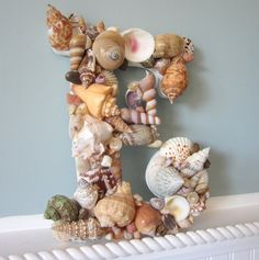 Beautifully made shell letters! Single piece or idea - make phrases, words, (ex 'welcome home')