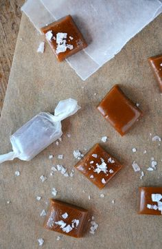 Homemade Salted Caramels | Sweet meets salty in this recipe for homemade salted caramels, which are the ultimate edible gift to give or get! #recipe #holiday justataste.com