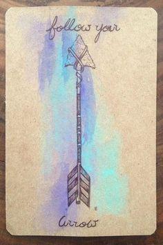 Tribal Arrow Postcard Traditional Arrow by ArdentPrints on Etsy