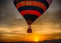 Hot Air Balloon & Sunset - In the sunset of hot air balloon in Budaörs, Hungary / Hőlégballon naplementében, Budaörsön, Magyarországon