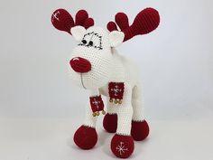 Ehi, ho trovato questa fantastica inserzione di Etsy su https://www.etsy.com/it/listing/533432528/rudolph-the-reindeer-crochet-amigurumi