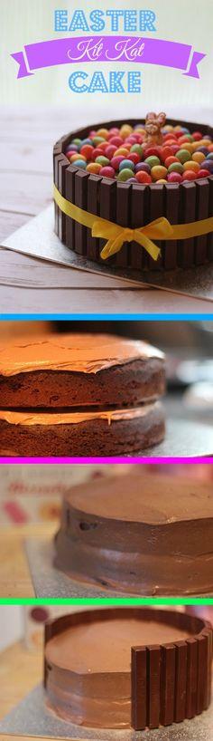Chocolate KitKat Easter Cake Pinterest
