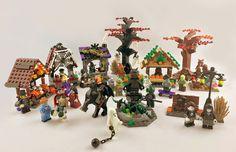 Lego Haunted House, Lego House, Halloween Village Display, Christmas Village Display, Lego Halloween, Halloween Town, Halloween Ideas, Holidays Halloween, Minecraft Lego