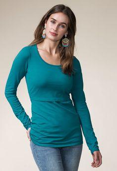 Classic top long sleeve (1) - Maternity top / Nursing top