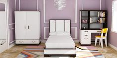 Everything imaginable for your child's room! Kids furniture is our business and we have an unrivaled collection. Find high-quality furniture, art, bedding, decor and rugs at Rosenberry Rooms! Teenage Girl Bedroom Designs, Teen Room Designs, Teenage Girl Bedrooms, Teen Bedroom, Master Bedroom, Modern Childrens Furniture, Kids Furniture, Modern Furniture, Cool Beds For Teens
