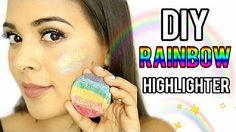 DIY Rainbow Highlighter?! Prism Magic Under $5! NataliesOutlet - YouTube