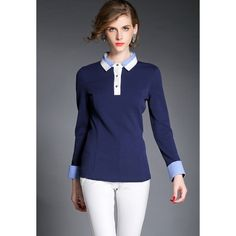 Thick Buttons Decorated Long Sleeve Women's Blouse