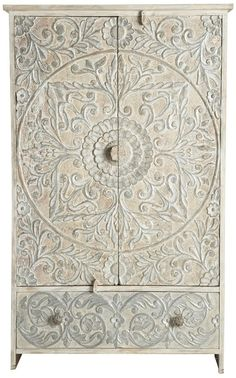 White Moroccan style cupboard