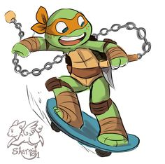 TMNT: They are all so cut. Mikey is so childish. Baby Ninja Turtle, Turtle Tots, Teenage Ninja Turtles, Ninga Turtles, Ninja Turtles Art, Tmnt 2012, Chibi, Tmnt Mikey, Character Art