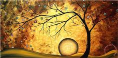 Megan Aroon Duncanson Art Across The Golden River print for sale. Shop for Megan Aroon Duncanson Art Across The Golden River painting and frame at discount price, ships in 24 hours. River Painting, Moon Painting, Painting Art, Framed Artwork, Wall Art, Red Moon, Botanical Art, Daffodils, Find Art