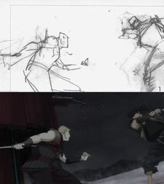 'Sword of the Stranger' rough and finished animation by Yutaka Nakamura Animation Storyboard, Animation Sketches, Animation Reference, 3d Animation, Art Reference, Sword Of The Stranger, Pencil Test, Animation Tutorial, Cool Animations
