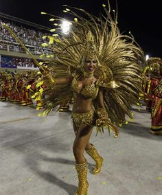 Samba a lively, rhythmical dance of Brazilian.