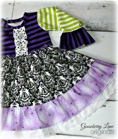Raffle RTS Halloween Knit Bodice Dress Size