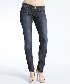 Love this Dark Blue Fade-out Kensington Skinny Jeans by Mavi on #zulily! #zulilyfinds