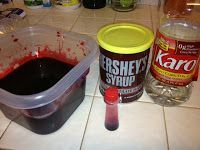 Halloween DIY - Making your own fake blood. Super easy; only 3 ingredients! Imagine, See, Do