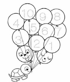 Learning Numbers Preschool, Body Preschool, Preschool Printables, Preschool Lessons, Kindergarten Coloring Pages, Kindergarten Math Worksheets, Preschool Activities, Alphabet Tracing Worksheets, Letter Tracing