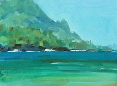 I have to say that with these paintings I've done on Kauai, I'm loving my pthalo green paint for maybe the first time in my life. Pthalocyanin green and blue are modern oil paint colors in which the green or blue is made from a...