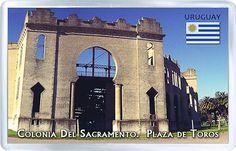 $3.29 - Acrylic Fridge Magnet: Uruguay. Colonia Del Sacramento. Plaza De Toros