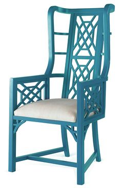 One Kings Lane - Chinoiserie Chic - Kings Grant Chair, Teal
