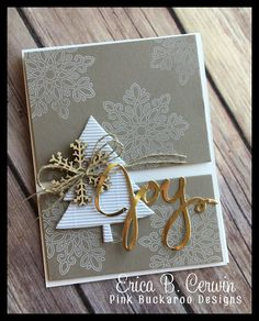 In Color Christmas Card Video (Pink Buckaroo Designs) Christmas Tree Cards, Stampin Up Christmas, Christmas Settings, Christmas Colors, Xmas Cards, Handmade Christmas, Holiday Cards, Christmas Crafts, Scrapbook Cards