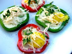 Karis' Kitchen | A Vegetarian Food Blog: Fried Eggs in Bell Peppers