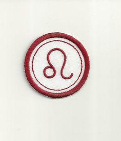 Zodiac Leo Merit Badge, Patch! Any Color Combo, Custom Made!
