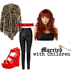 Peggy Bundy Halloween Costume by xo-pandaaa, via Polyvore; 90's costume inspiration; Halloween Costume from your closet; 3 Halloween costumes from your closet-90's edition