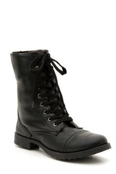 Black Floral Lined Combat Boot | Hot Topic