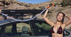 The Rack Mounted Solar Shower — Rubberneckers will give new meaning to 'Shower Stall'.