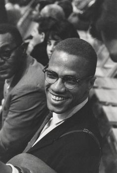 Unknown - Candid Malcolm X Smiling at an Ali Fight Fine Art Print For Sale at
