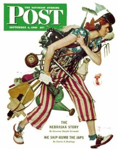 """1943-09-04: """"Rosie to the Rescue"""" (Norman Rockwell) Saturday Evening Post"""